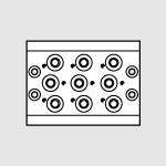 10 pos. multiple base 70 PNV-SOV 1/8''