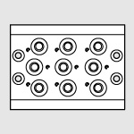 10 pos. multiple base 70 PNV-SOV 1/4''
