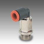 Rotary elbow male extended technopolymer RL36