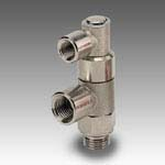 Bidirectional threaded stop valve