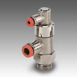 Bidirectional thread + pipe stop valve