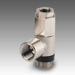 Unidirectional threaded stop valve
