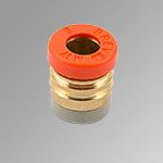 Pipe compression brass cartridge Ø10/8