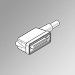IP65 25-pin 90° conn., UL robotics, L 1 m