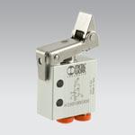 VME-1 unidir. lever, 3/2 NC, axial Ø4
