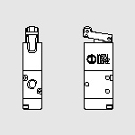 70 Mec. 1/8'' 3/2 sensitive roller NC