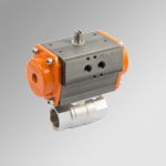 2-ways Brass Actuated ball valves single-acting