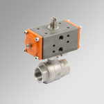 2-ways Stainless steel Actuated ball valves single-acting