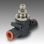 In-line flow micro-regulator series RFL L pipe-pipe unidirectional U 1/4-1/4