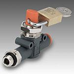 V2V-V3V thread-pipe padlocked