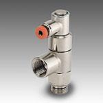 Stop valve, bi-directional, ports 1/8, 1/8, pilot pipe Ø4
