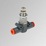 In-line quick-exhaust valves with regulated exhaust VSRR L