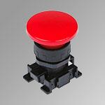 Pulsante a fungo rosso ø40