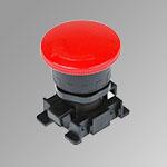 Pulsante a fungo rosso con blocco ø40