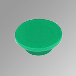 Green disk pushbutton