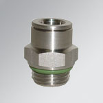 Push-in fittings, stainless steel